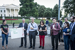 June 9, 2017 - Washington Dc, DC, U.S - Some people had gathering May 9 front of White House in DC and lighted up candles for Iranians who were murdered in Tehran in two attacks by ISIS. They said, ''We stand with their families and friends and people of Iran and all people around the world who fell victims. (Credit Image: © Ardavan Roozbeh via ZUMA Wire)