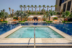 Swimming pool at new luxury  Four Seasons Hotel Bahrain Bay in Manama Kingdom of Bahrain