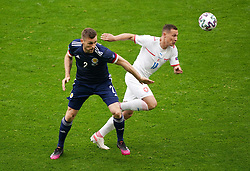 Scotland's Stephen O'Donnell and Czech Republic's Jan Boril (right) battle for the ball during the UEFA Euro 2020 Group D match at Hampden Park, Glasgow. Picture date: Monday June 14, 2021.