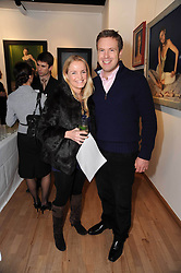 DANIEL & EMILY MONCKTON at a private view of artist Georgina Barclay's work entitled 'Loves & Curiosities' held at the Air Gallery, Dover Street, London on 17th November 2009