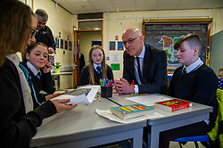 Pictured: Mr Swinney met first year students who were keen to offer their views<br /> <br /> Education Secretary, John Swinney, MSP, addressed more than 100 teachers and education leaders, as he provided an update on the terms of reference for a review of the curriculum, in a speech marking five years of the Scottish Attainment Challenge.<br /> <br /> Ger Harley   EEm 26 February 2020