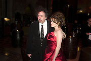 TIM BURTON AND HELENA BONHAM CARTER, European Film premiere of Sweeny Todd,  Odeon Leicester Sq. and party afterwards at the Royal Courts of Justice. 10 January 2008. -DO NOT ARCHIVE-© Copyright Photograph by Dafydd Jones. 248 Clapham Rd. London SW9 0PZ. Tel 0207 820 0771. www.dafjones.com.