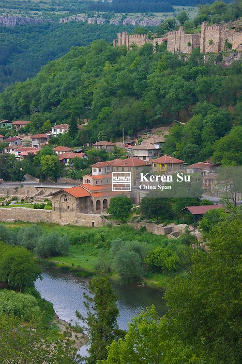 Jantra River and Town of Veliko Tarnovo, Bulgaria
