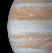 Mid-section views of Jupiter. Cassini.
