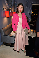 LONDON, ENGLAND 8 DECEMBER 2016: Lily Lewis at the Omega Constellation Globemaster Dinner at Marcus, The Berkeley Hotel, Wilton Place, London England. 8 December 2016.