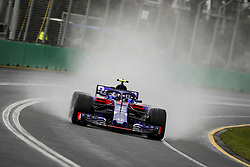 March 24, 2018 - Melbourne, Victoria, Australia - 10 GASLY Pierre (fra), Scuderia Toro Rosso Honda STR13, action during 2018 Formula 1 championship at Melbourne, Australian Grand Prix, from March 22 To 25 - s: FIA Formula One World Championship 2018, Melbourne, Victoria : Motorsports: Formula 1 2018 Rolex  Australian Grand Prix, (Credit Image: © Hoch Zwei via ZUMA Wire)