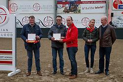 Van Aert Huub, Adriaensen Jef, Arnauts Katrien, Arnauts Herman, BEL<br /> BWP hengstenkeuring - Meerdonk 2018<br /> © Hippo Foto - Dirk Caremans<br /> 17/03/2018