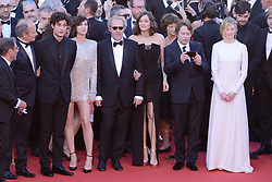 Hippolyte Girardot, Mathieu Amalric, Louis Garrel, Charlotte Gainsbourg, Arnaud Desplechin, Marion Cotillard and Alba Rohrwacher arriving at Les Fantomes d'Ismael screening and opening ceremony held at the Palais Des Festivals in Cannes, France on May 17, 2017, as part of the 70th Cannes Film Festival. Photo by Aurore Marechal/ABACAPRESS.COM