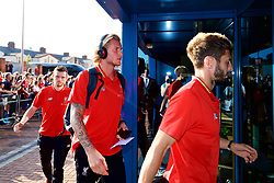 BLACKBURN, ENGLAND - Thursday, July 19, 2018: Liverpool's goalkeeper Loris Karius arrives at the stadium before a preseason friendly match between Blackburn Rovers FC and Liverpool FC at Ewood Park. (Pic by Paul Greenwood/Propaganda)