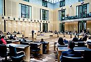 BERLIJN - Koning Willem-Alexander houdt een toespraak in de plenaire zaal van de Bondsraad. Het driedaagse staatsbezoek aan Berlijn vormt de afronding van een reeks deelstaatsbezoeken sinds het koningspaar in 2013 werd ingehuldigd. ANP ROYAL IMAGES SEM VAN DER WAL POOL