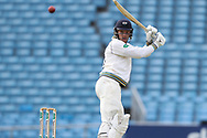 David Willey of Yorkshire plays a leg glance during the opening day of the Specsavers County Champ Div 1 match between Yorkshire County Cricket Club and Hampshire County Cricket Club at Headingley Stadium, Headingley, United Kingdom on 27 May 2019.