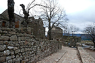 La garde Guertin middle age village in the cevennes    France