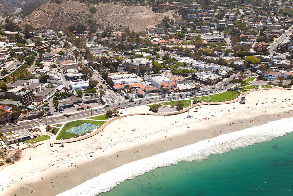 Laguna Beach Aerial Stock Photo