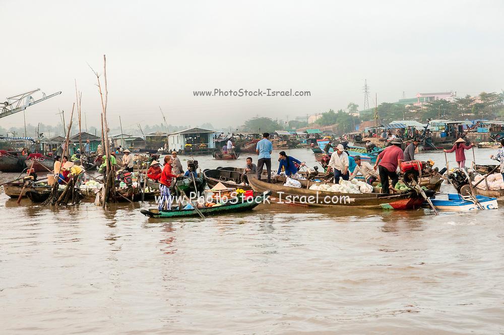 The floating market, Chau Doc, Vietnam