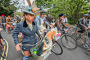 The Tweed Run, a very British public bicycle ride through London's streets, with a prerequisite that participants are dressed in their best tweed cycling attire. Now in it's 8th year the ride follows a circular route from Clerkenwell via the Albert Memorial, Buckinham Palace and Westminster.