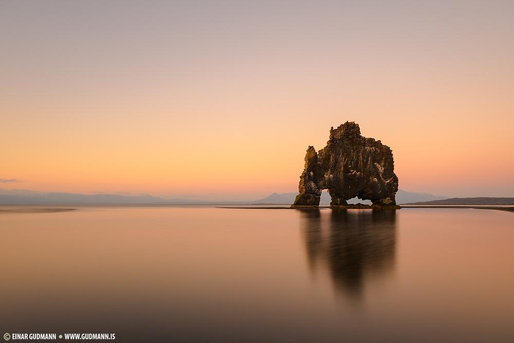 Hvitserkur sea stack in north west Iceland.
