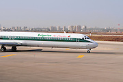 Israel, Ben-Gurion international Airport Bulgarian Air Charter McDonnell Douglas MD-82