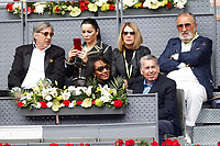 Tennis legends Manolo Santana (d-r) with his wife and Ion Tiriac (t-r) during Madrid Open Tennis 2017 match. May 11, 2017.(ALTERPHOTOS/Acero)