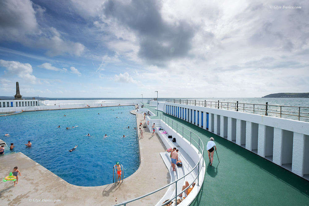 Nominated in 10th (2017) International Colour Awards (Fine Art category) <br /> <br /> Jubilee Pool is an Art Deco lido on the Penzance promenade. Today was the last day open to swimmers before closure for winter. The sun sparkled on the water but a cool breeze blew in from the West, ruffling the pool surface and bringing with it grey threatening clouds. It's always sad for me, the end of Summer.