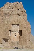 Tomb of Darius II. Achaemenid Tombs at Naqsh-e Rustam, Fars, Iran