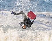 Boogie Boarding Waves in Newport Beach