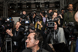 Photographers during Holly Fulton presentation at London Fashion Week