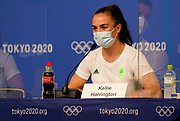 Irelands Kellie Harrington speaks at a press conference during the Tokyo 2020 Olympic Games. Tuesday 27th July 2021. Mandatory credit: © John Cowpland / www.photosport.nz
