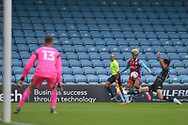 Devarn Green (14) of Scunthorpe United crosses the ball during the Pre-Season Friendly match between Scunthorpe United and Doncaster Rovers at Glanford Park, Scunthorpe, England on 15 August 2020.