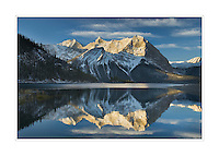 Sunrise over Mount Sarrail and Mount Foch Kananaskis Lake, Peter Lougheed Provincial Park