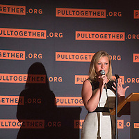 """Monique Jacobson, Cabinet secretary of the Children, Youth and Families Department leads s presentation at Gallup High School in Gallup Wednesday on how to address and improve the lives of children in New Mexico through the """"Pull Together"""" initiative."""