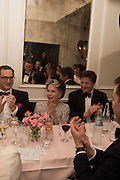 LESLIE CARON;  Nicky Haslam hosts dinner at  Gigi's for Leslie Caron. 22 Woodstock St. London. W1C 2AR. 25 March 2015