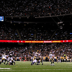 September 9, 2010; New Orleans, LA, USA;  New Orleans Saints quarterback Drew Brees (9) throws a pass to tight end Jeremy Shockey (88) during the NFL Kickoff season opener at the Louisiana Superdome. The New Orleans Saints defeated the Minnesota Vikings 14-9.  Mandatory Credit: Derick E. Hingle
