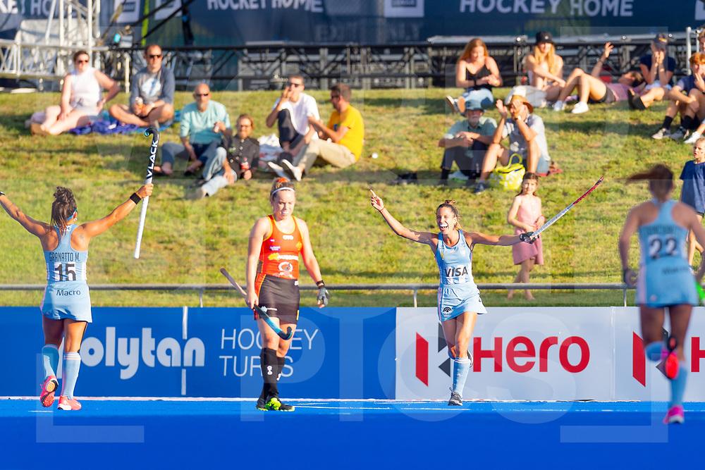 Perth FIH Pro League<br /> Australia vs Argentina<br /> Picture: Maria-Jose Granatto and Sofia Toccalino <br /> WORLDSPORTPICS COPYRIGHT GORDON PETTIGREW