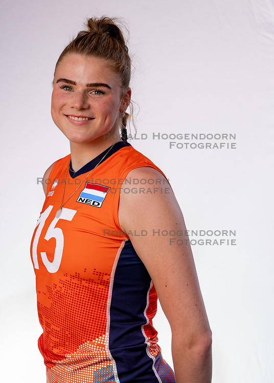 Anneclaire ter Brugge of Netherlands, Photoshoot selection of Orange women's youth volleybal team season 2021on june 15, 2021 in Arnhem, Netherlands (Photo by RHF Agency/Ronald Hoogendoorn)