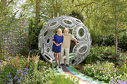 ANNEKA RICE and DAVID BELLAMY at the 2016 RHS Chelsea Flower Show, Royal Hospital Chelsea, London on 23rd May 2016