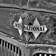 Vintage International Truck Triple Diamond Emblem - Motor Transport Museum - Campo, CA - Black & White