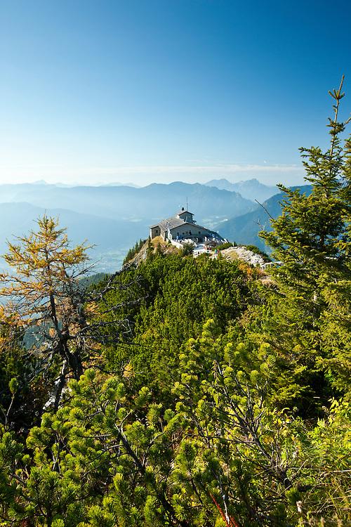 Eagle's Nest, Kehlsteinhaus, Hitler's lair at Berchtesgaden in the Bavarian Alps, Germany