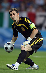 Goalkeeper of Spain Ikes Casillas during the UEFA EURO 2008 Quarter-Final soccer match between Spain and Italy at Ernst-Happel Stadium, on June 22,2008, in Wien, Austria. Spain won after penalty shots 4:2. (Photo by Vid Ponikvar / Sportal Images)
