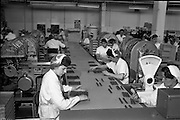 28/05/1962<br /> 05/28/1962<br /> 28 May 1962<br /> Fry-Cadbury factory on the Malahide Road, Dublin. Picture shows the wrapping machine section of the assembly line.