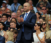 Tennis - 2019 Wimbledon Championships - Week One, Saturday (Day Six)<br /> <br /> Mens Singles, 3rd Round <br /> Sports Men and Women in the Royal Box on Centre Court<br /> <br /> England and Tottenham footballer Eric Dier<br /> <br /> COLORSPORT/ANDREW COWIE