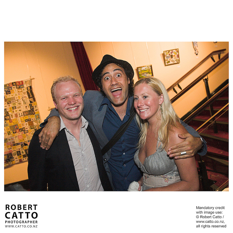 Charlie Bleakley;Taika Waititi at the Arts Foundation of New Zealand New Generation Awards at the St James Theatre, Wellington, New Zealand.<br />