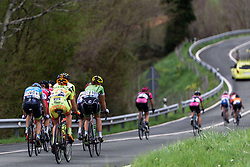The climb continues for another kilometre - Emakumeen Saria - Durango-Durango 2016. A 113km road race starting and finishing in Durango, Spain on 12th April 2016.