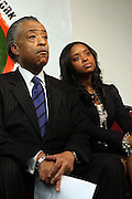 17 January 2011- Harlem, NY- Rev.Dr.Al Sharpton and Tamika Mallory, National Executive Director, The National Action Network at The National Action Network Martin Luther King Day Celebration held at The House of Justice on January 17, 2011 in Harlem, New York City. Photo Credit: Terrence Jennings