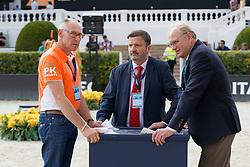 Ehrens Rob, NED, Varela Santiago, ESP, Koninckx Louis, NED<br /> CSIO Barcelona 2017<br /> © Hippo Foto - Dirk Caremans<br /> 28/09/2017