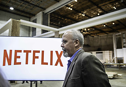 October 8, 2018 - Albuquerque, New Mexico, U.S. - In a major announcement held Monday afternoon at the Albuquerque Studios, Netflix buys ABQ Studios for a billion dollars.  Pictured is TY WARREN Vice President of Physical Operations for Netflix. (Credit Image: © Roberto E. Rosales/Albuquerque Journal via ZUMA Wire)
