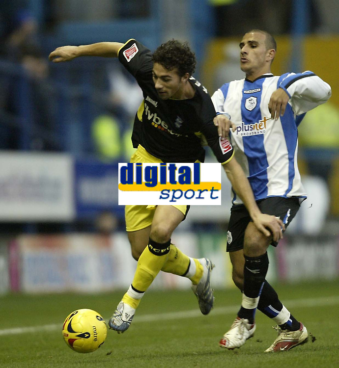 Photo: Aidan Ellis.<br /> Sheffield Wednesday v Birmingham City. Coca Cola Championship. 16/12/2006.<br /> Birmingham's Stephen Kelly goes past Sheffield's Marcus Tudgay
