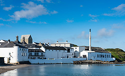 View of Bowmore Distillery on island of Islay in Inner Hebrides of Scotland, UK