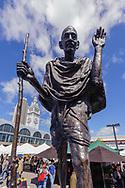 Ferry Plaza Farmers Market, San Francisco, California, Gandhi Statue at Ferry Building, Embarcadero