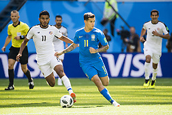 June 22, 2018 - Sankt Petersburg, Russia - 180622 Johan Venegas of Costa Rica and Philippe Coutinho of Brazil during the FIFA World Cup group stage match between Brazil and Costa Rica on June 22, 2018 in Sankt Petersburg..Photo: Petter Arvidson / BILDBYRÃ…N / kod PA / 92075 (Credit Image: © Petter Arvidson/Bildbyran via ZUMA Press)