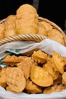 Oscypek - Polish smoked cheese being sold in Stare Miasto Krakow Old Town Poland
